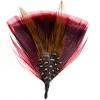Hat Trim Turkey Plumage/guinea 7cm Red/black/white